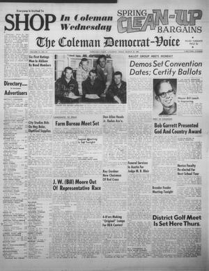 Primary view of object titled 'The Coleman Democrat-Voice (Coleman, Tex.), Vol. 81, No. 41, Ed. 1 Tuesday, March 20, 1962'.