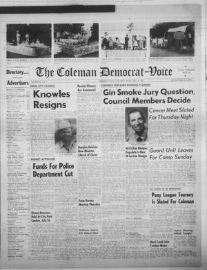 Primary view of object titled 'The Coleman Democrat-Voice (Coleman, Tex.), Vol. 81, No. 6, Ed. 1 Tuesday, July 18, 1961'.