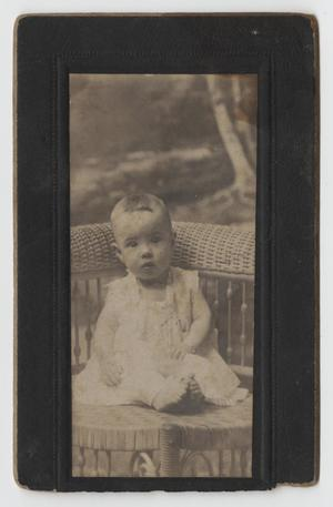 Primary view of object titled '[Portrait of an Unknown Infant]'.