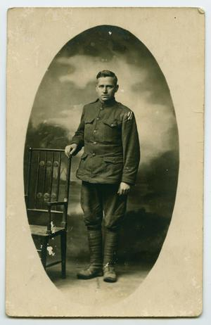 Primary view of object titled '[Portrait of a World War One Soldier in Uniform]'.