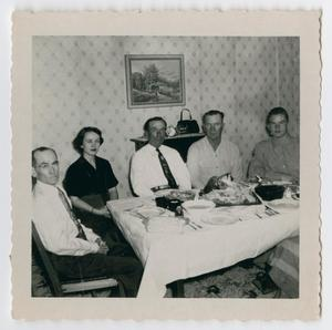 Primary view of object titled '[Photograph of Christmas Dinner at the Back Farm]'.