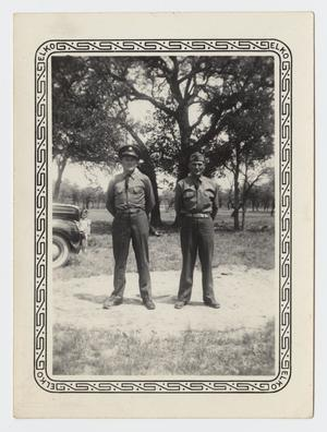 Primary view of object titled '[Photograph of Woodrow Nelson and a Fellow Soldier]'.