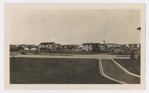 [Photograph of Randolph Field from the Cadet Barracks]