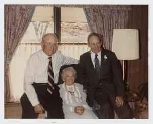 Primary view of object titled '[Photograph of Noel Nelson, Sr., Cleo Nelson Kinser, and Jack Nelson]'.