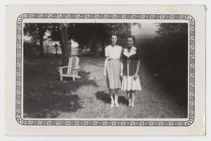 Primary view of object titled '[Photograph of Two Unknown Women]'.