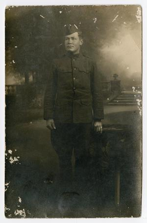 Primary view of object titled '[Portrait of an Unknown World War One Soldier]'.