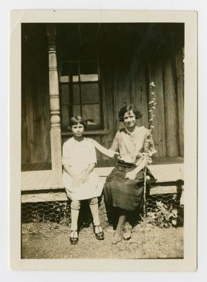 Primary view of object titled '[Photograph of Fanny Lou and Nola Taber at the Back Farm]'.