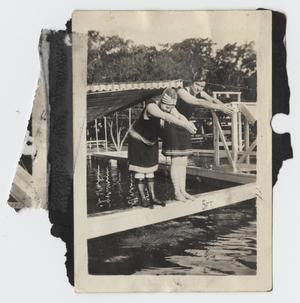 Primary view of object titled '[Photograph of Nelle Turney and Another Woman Diving]'.