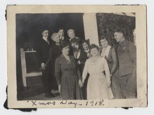 Primary view of object titled '[Christmas Photograph of the Turney Family and Friends]'.