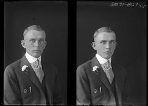 Primary view of object titled '[Portrait of Young Man in Suit]'.