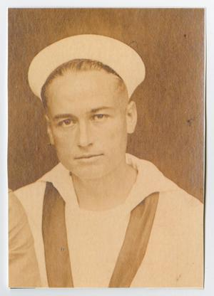 Primary view of object titled '[Photocopy of a Portrait of Cleve Back in a U. S. Navy Uniform]'.