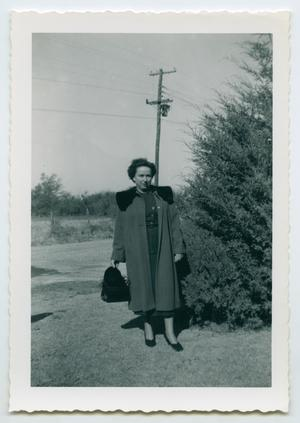 Primary view of object titled '[Photograph of Ruth Toler in Garland, Texas]'.
