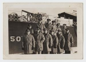 Primary view of object titled '[Photograph of a Group of World War Two Soldiers]'.