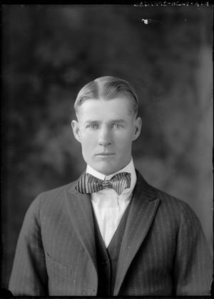 Primary view of object titled '[Portrait of Man in Suit with Bow Tie]'.