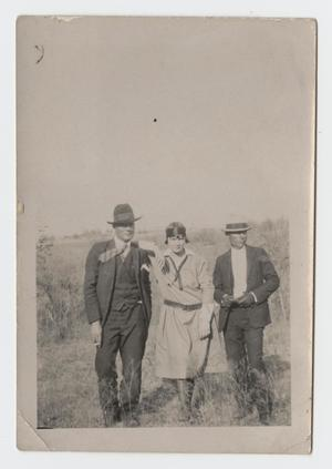 Primary view of object titled '[Photograph of L. W. Joplin, Oscar Back, and Vera Wiseman]'.