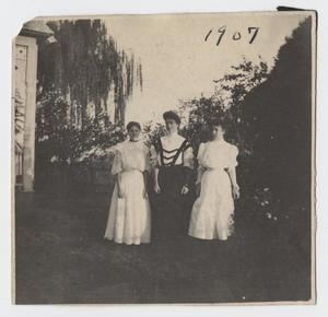 Primary view of object titled '[Photograph of Nelle Turney with Two Friends]'.