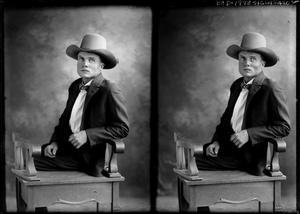Primary view of object titled '[Portraits of Man in Chair]'.