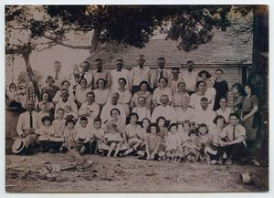 Primary view of object titled '[Photograph of a Nelson Family Reunion]'.
