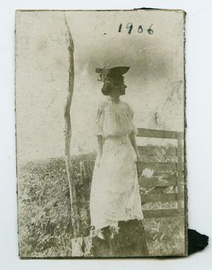 Primary view of object titled '[Photograph of Nelle Turney at the Murphy Farm]'.