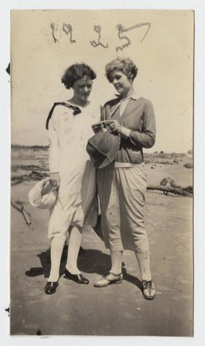 Primary view of object titled '[Photograph of Nelle Turney and a Friend]'.