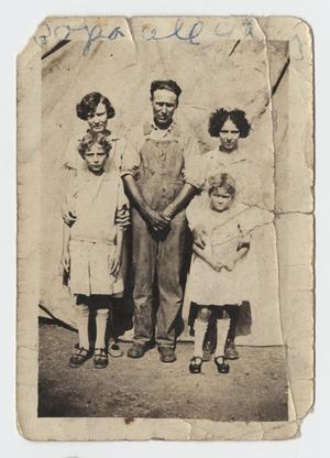 Primary view of object titled '[Photograph of James Nelson with his Daughters]'.