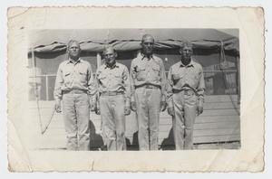Primary view of object titled '[Photograph of Four World War Two Soldiers]'.