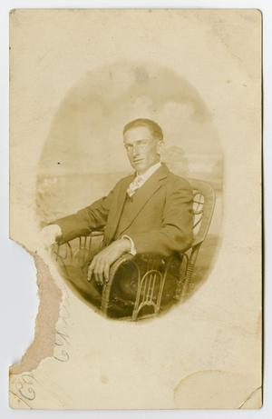Primary view of object titled '[Portrait of Rub Collinsworth in a Chair]'.