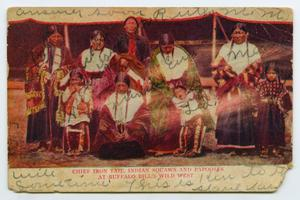 Primary view of object titled '[Postcard to M. M. Matlock from his Brother]'.