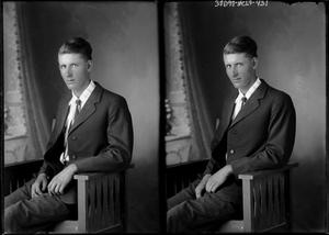 Primary view of object titled '[Portraits of Man Sitting]'.