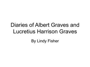 Primary view of object titled 'Diaries of Albert Graves and Lucretius Harrison Graves'.