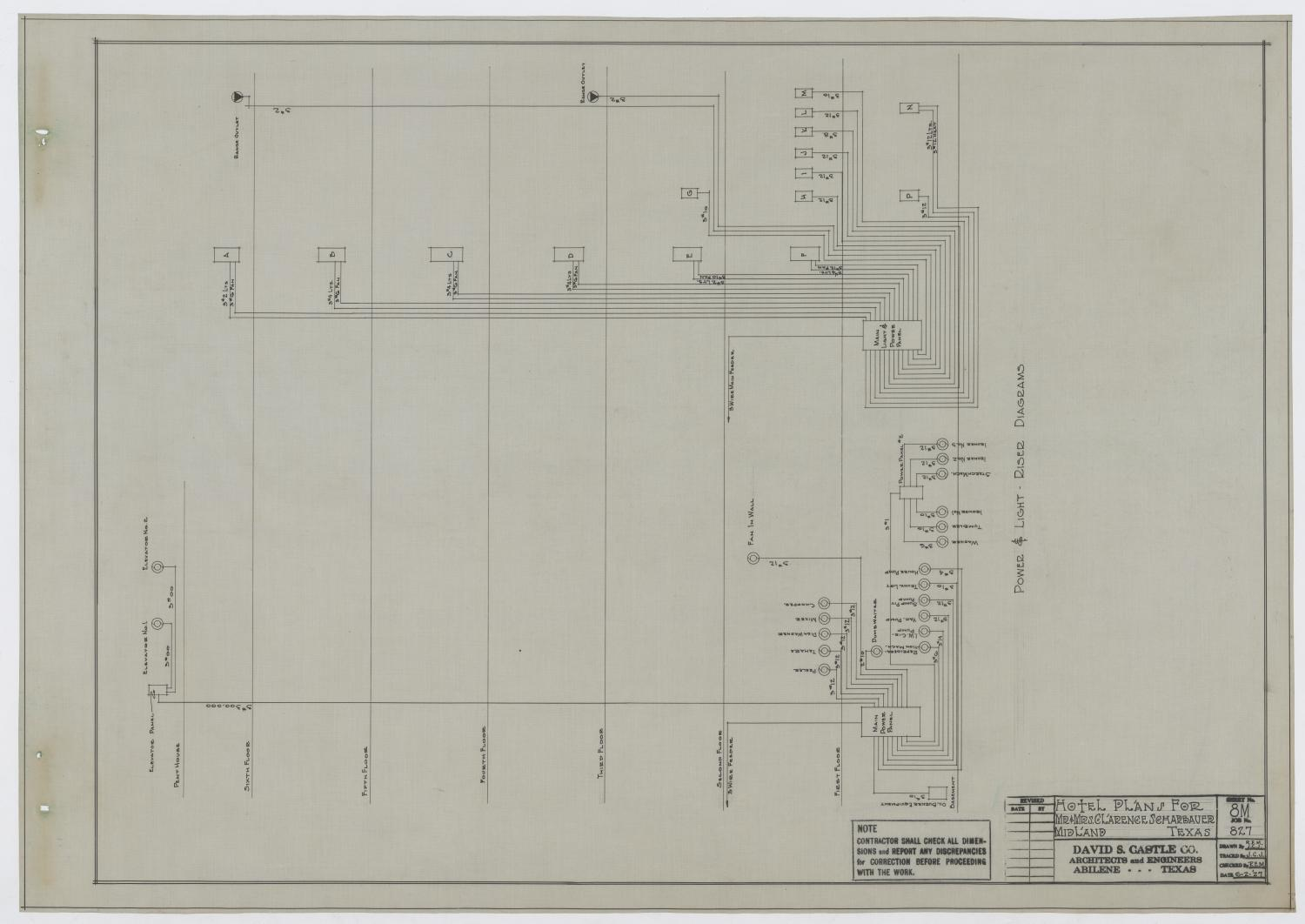 Scharbauer Hotel Mechanical Plans, Midland, Texas: Power and Light ...