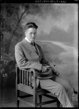 Primary view of object titled '[Portrait of Boy in Chair]'.