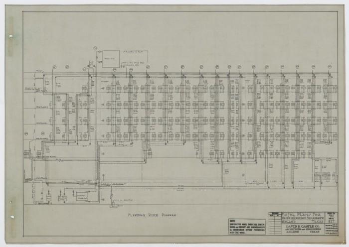 Scharbauer Hotel Mechanical Plans Midland Texas Plumbing Riser