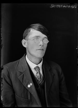 Primary view of object titled '[Portrait of Man with Glasses]'.