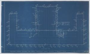 Primary view of object titled 'Grammar School Building, Munday, Texas: Basement Plan'.