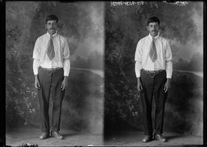 Primary view of object titled '[Portraits of Man Standing]'.