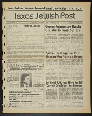 Primary view of object titled 'Texas Jewish Post (Fort Worth, Tex.), Vol. 40, No. 4, Ed. 1 Thursday, January 23, 1986'.