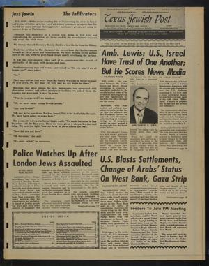 Primary view of object titled 'Texas Jewish Post (Fort Worth, Tex.), Vol. 31, No. 34, Ed. 1 Thursday, August 25, 1977'.