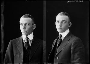 Primary view of object titled '[Portraits of Young Man in Suit]'.
