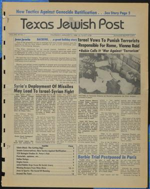 Primary view of object titled 'Texas Jewish Post (Fort Worth, Tex.), Vol. 40, No. 1, Ed. 1 Thursday, January 2, 1986'.