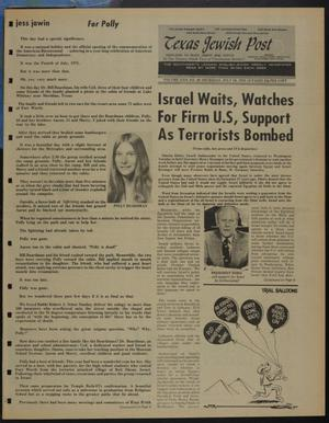 Primary view of object titled 'Texas Jewish Post (Fort Worth, Tex.), Vol. 29, No. 28, Ed. 1 Thursday, July 10, 1975'.