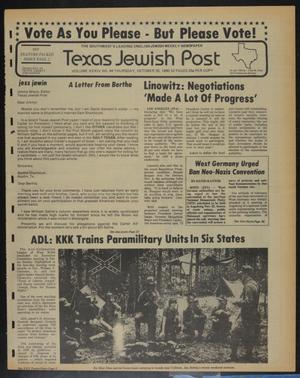 Primary view of object titled 'Texas Jewish Post (Fort Worth, Tex.), Vol. 34, No. 44, Ed. 1 Thursday, October 30, 1980'.