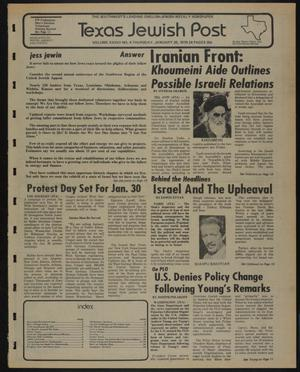 Primary view of object titled 'Texas Jewish Post (Fort Worth, Tex.), Vol. 33, No. 4, Ed. 1 Thursday, January 25, 1979'.