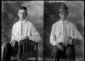 Primary view of object titled '[Portraits of Boy in Chair]'.