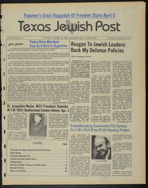 Primary view of object titled 'Texas Jewish Post (Fort Worth, Tex.), Vol. 40, No. 13, Ed. 1 Thursday, March 28, 1985'.