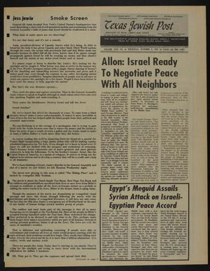 Primary view of object titled 'Texas Jewish Post (Fort Worth, Tex.), Vol. 29, No. 41, Ed. 1 Thursday, October 9, 1975'.