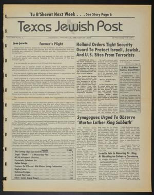 Primary view of object titled 'Texas Jewish Post (Fort Worth, Tex.), Vol. 40, No. 3, Ed. 1 Thursday, January 16, 1986'.