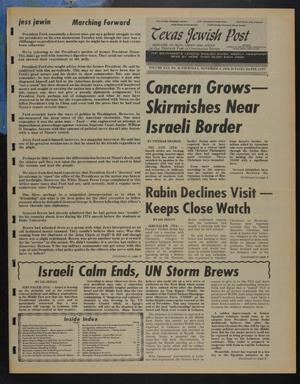 Primary view of object titled 'Texas Jewish Post (Fort Worth, Tex.), Vol. 30, No. 45, Ed. 1 Thursday, November 4, 1976'.