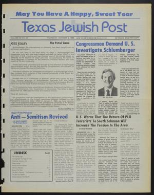 Primary view of object titled 'Texas Jewish Post (Fort Worth, Tex.), Vol. 40, No. 40, Ed. 1 Thursday, October 2, 1986'.