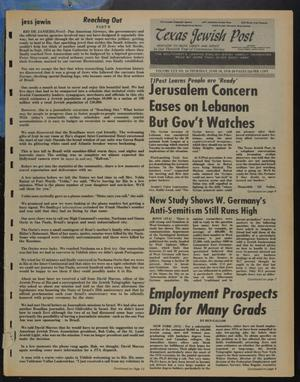 Primary view of object titled 'Texas Jewish Post (Fort Worth, Tex.), Vol. 30, No. 24, Ed. 1 Thursday, June 10, 1976'.